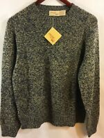 Vintage JC Penny The Fox Men's Sweater Birdseye RAGG WOOL 42-44 L NEW