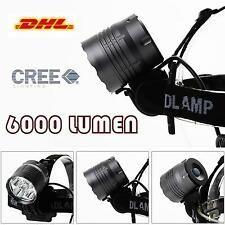AGM CREE 6000 LUMEN 5LED Fahrradlampe Fahrrad Bike Lampe Stirnlampe+6400mAH Akku
