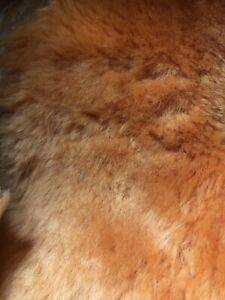 Sheepskin offcuts scraps crafting soft wool, natural off cuts, Orange Merino