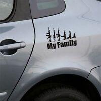 Funny Wall Bumper Window Art Black Car Vinyl Sticker Decals My Gun Family