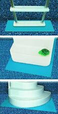 """Ladder Mat Pool Above Ground Swimming Step Pad Liner Protection Blue 36x36"""""""""""