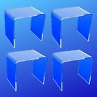 Acrylic Riser 2x2x2  (4 Acrylic Risers)