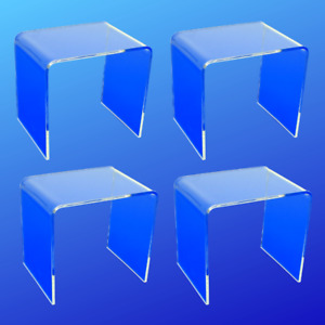 Acrylic Riser 4x4x4 (Lot of 4 Acrylic Risers)