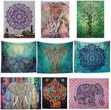 Indian Tapestry Wall Hanging Hippie Mandala Queen Size Bedspread Ethnic Throw
