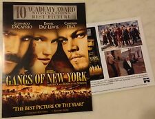 GANGS OF NEW YORK (2002) Press Kit Folder, Color Photos; Scorsese; DiCaprio