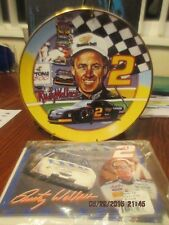 """LIMITED EDITION Rusty Wallace NASCAR 8"""" collectors plate & magnetic pads"""