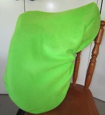 Horse Saddle cover Lime green with FREE EMBROIDERY Australian Made Protection