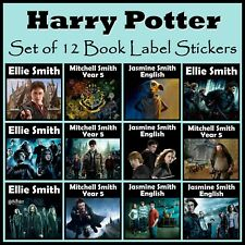 Personalised Harry Potter Book Label Stickers Set of 12 - Any Text, Gift, School