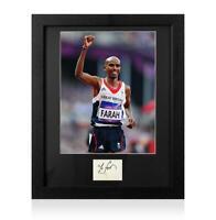Sir Mo Farah Signed 2012 London Olympics Card and Photo Frame: Option 2