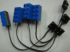 LEGO LOT OF 4 BLUE MINDSTORMS LIGHT SENSOR ROBOTICS 9V piece