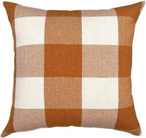 YOUR SMILE Retro Farmhouse Buffalo Tartan Checkers Plaid Cotton Linen Decorative