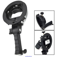 New Handheld S-Type Bracket Holder with Bowens Mount for Speedlite Flash