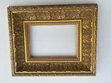 cadre doré fin xx ème baguette dorée feuillure 0P 18 cm par 12 cm bon état