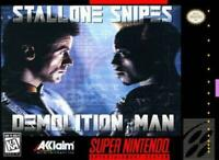 Demolition Man Super Nintendo Game SNES Used