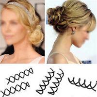 Lots 12pcs Useful Spiral Spin Screw Bobby Pin Hair Clip Twist Barrette Black New