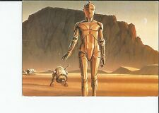 C-3PO and R-2D2 ,Detail From The Production Painting 1996 Star Wars Postcard