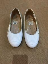 Puma Ginza Metallic Womens Ballet Pumps Flat Slip On Shoes Silver
