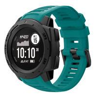 Adjustable Wrist Strap Sport Watch Band Silicone For Garmin Instinct Replacement