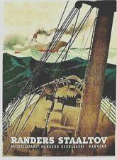 Original vintage poster RANDERS SHIP ROPES SAILOR IN STORM 1945