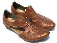 RIEKER Antistress Women's Sz 6.5 EU37 Brown Leather Casual Shoe