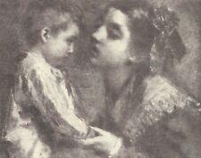 A7886 Tranquillo Cremona - Il Figlio dell'Amore - Stampa d'epoca - 1925 print
