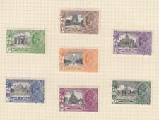 INDIA (MK7100) # 142-148 VF-MH 1935 KING GEORGE V SILVER JUBILEE SET CV $24