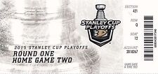 2015 ANAHEIM DUCKS VS WINNIPEG JETS PLAYOFFS GAME #2 TICKET STUB