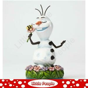 Jim Shore Dreaming Of Summer  Olaf  Flowers Figurine Disney Traditions