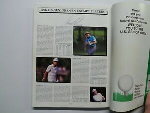 Arnold Palmer Signed Senior Open Championship Magazine With Other Autographs