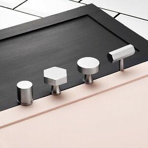 Contemporary Brass Silver Cupboard Drawer Cabinet Door Knobs Handles Pulls