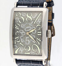 Franck Muller Long Island Crazy Hours 18K White Gold 1200 CH Watch 32x54mm B/P