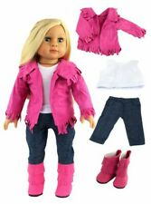 """18"""" American Girl/Our Generation Dolls Clothes - Hot Pink Western Full Outfit!!"""