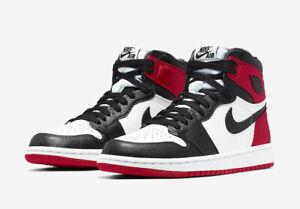 Nike Air Jordan 1 Retro Satin Black Toe High OG UK 5.5 US 8w Black White Varsity