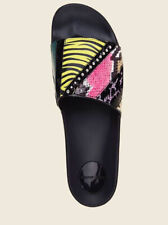 NIB Authentic Marc Jacobs Neon Multi Slides Sz 36