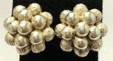 Vintage Danecraft Sterling Silver 925 Native American Beaded Cluster Earrings