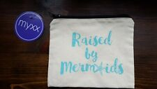 Mermaid cosmetic bag beach pouch makeup ocean sea bridesmaid
