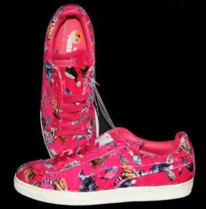 Puma Hot Pink Crushed Velvet HACKNEY Koala Bears Racoons Monkeys Mns Shoes NEW