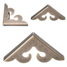 Antique 12 pcs Vintage metal Decorative Corner Bracket for Chest Case Box  Nice