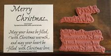 NEW MSE!My Sentiments Exactly! Unmounted Rubber Stamp V125 Christmas Warmth