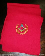 Red Masonic Scarf  square and compass new clearance price