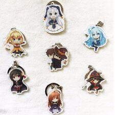 7pcs KonoSuba God's Blessing on this Wonderful World Keychain Acrylic Keyrings