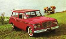 Old Print. Red 1960 Studebaker Lark De Luxe Station Wagon Auto Ad