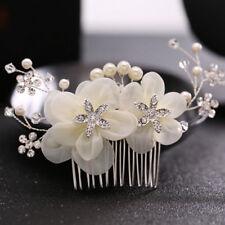creamy white Wedding  hair bride Accessories  Hair Comb piece Clip Pin Bridal