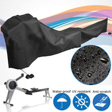 Black Polyester Waterproof Durable Fitness Equipment Rowing Machine Cover