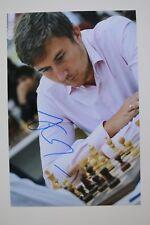Gm Сергей карякин signed 20x30cm foto autógrafo Autograph ip6 Grandmaster Chess