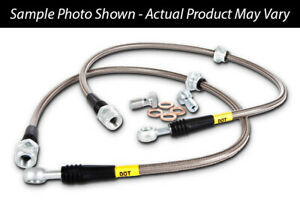 Stoptech Front SS Stainless Brake Lines 90-94 Eclipse GSX 91-99 3000GT SL VR-4