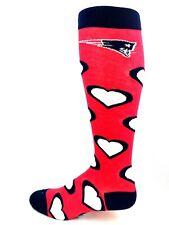 New England Patriots Football Ladies Knee-High Hearts Game Day Socks