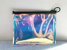 Sephora holographic see through Makeup Cosmetic Bag / Pouch / Case, Brand New!