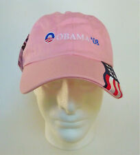 NWT New Barack Obama President Election Campaign Cap Hat 08 2008 US Flag Pink