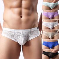 Hombre Sexy Ropa Interior De Encaje Tanga transpirable Calzoncillos Boxers TANGA